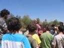 Nitzenei Eshkol Public School kids watching Arieh\'s launch