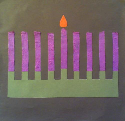 Chanukah Collage in Progress, Randa Dubnick
