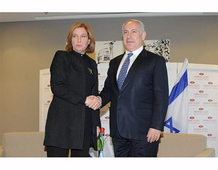 Tzipi Livni meets with Benyamin Netanyahu, Feb 27/09