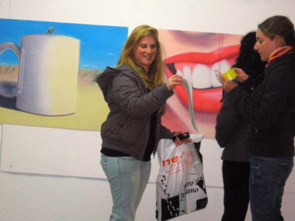 Melany&Shira with Shira's work